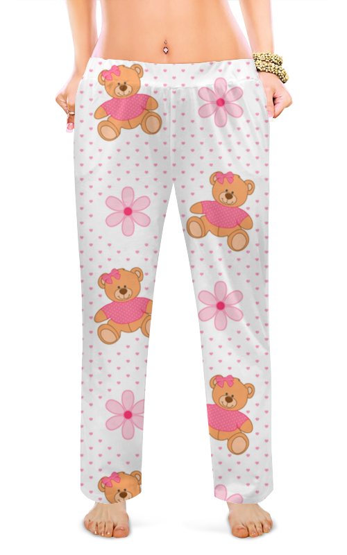 Женские пижамные штаны Printio Медвежата tolo гирлянда медвежата