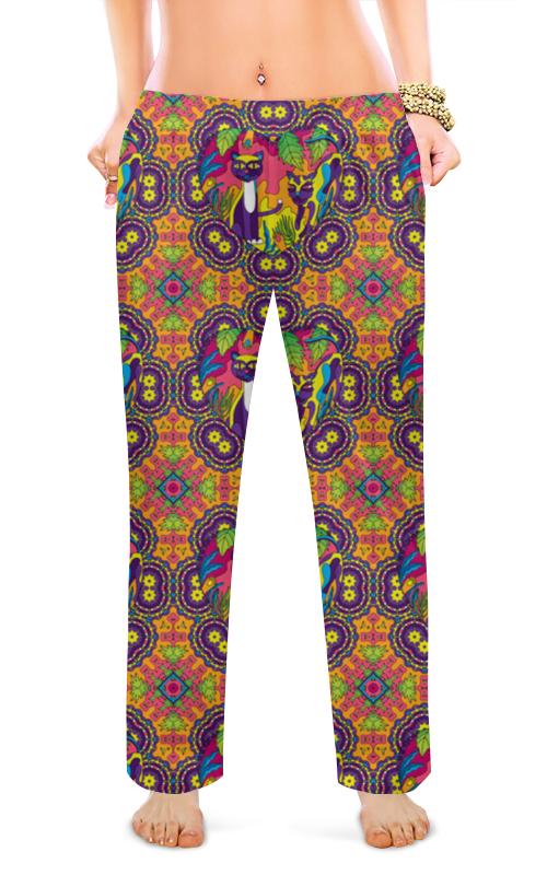 Женские пижамные штаны Printio Кошачьи узоры