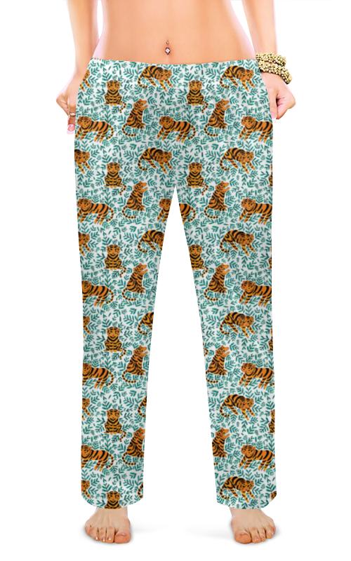 Женские пижамные штаны Printio Тигрята покрывало тигрята полухлопок 120х150