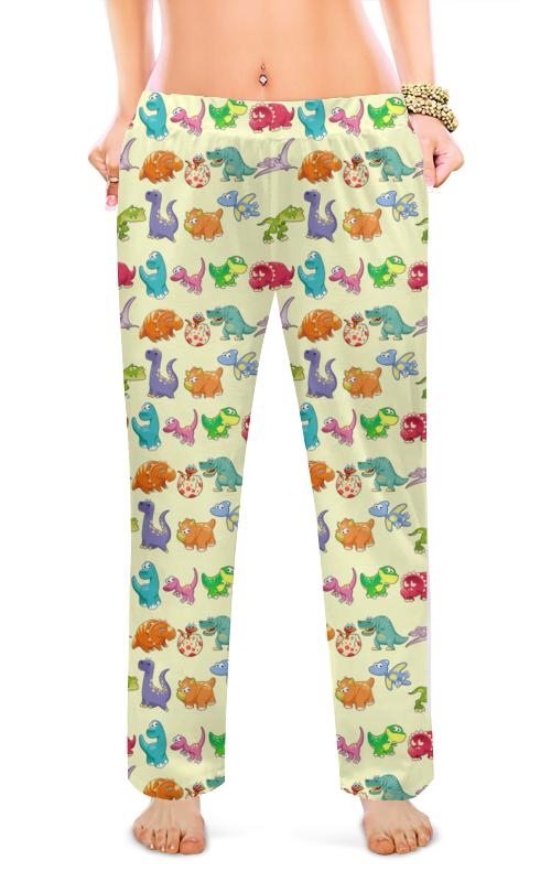 Женские пижамные штаны Printio Динозаврики цена