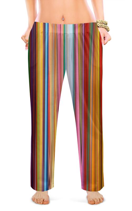 Женские пижамные штаны Printio Яркие полосочки