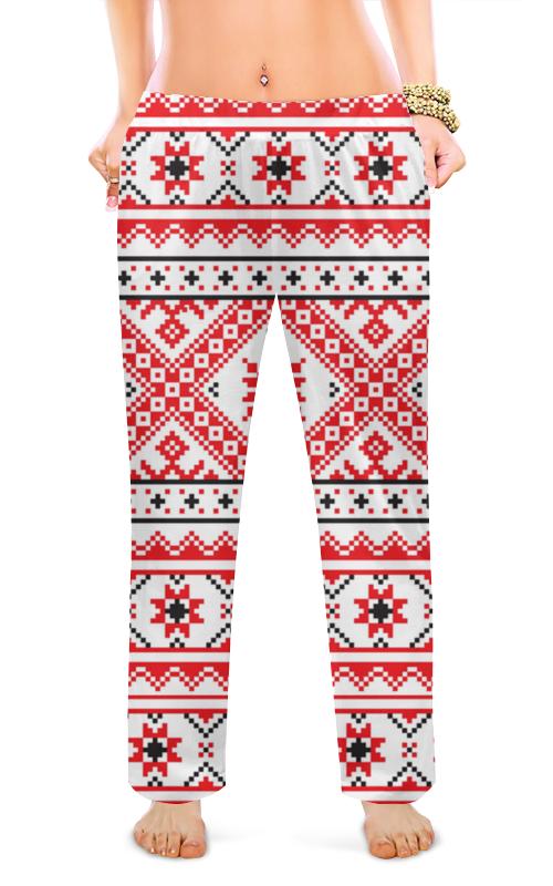 Женские пижамные штаны Printio Хохлома