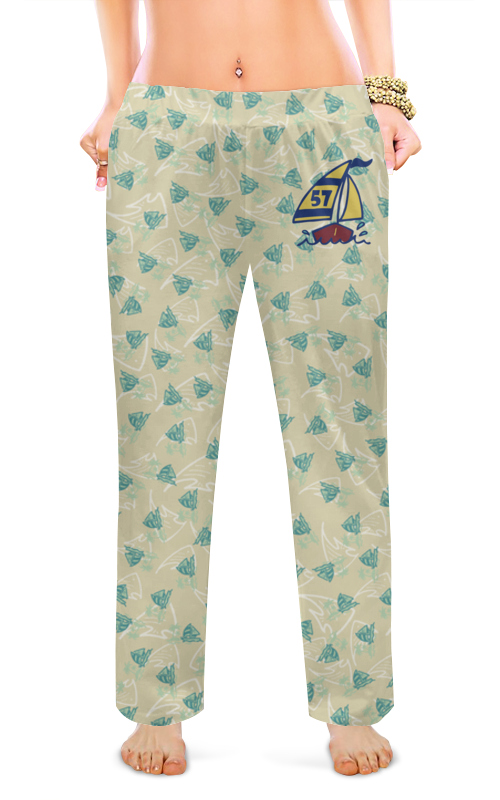 Женские пижамные штаны Printio Кораблик