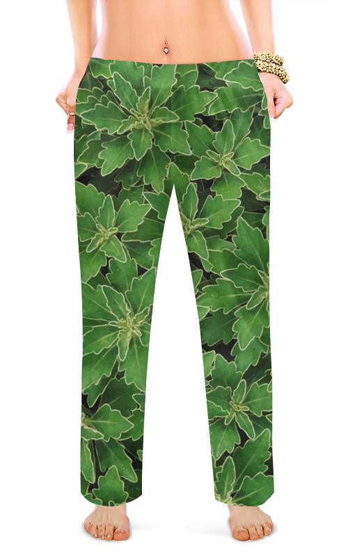 Женские пижамные штаны Printio Зеленые листья