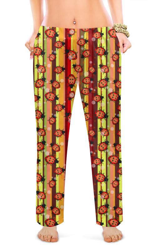 Женские пижамные штаны Printio Божьи коровки