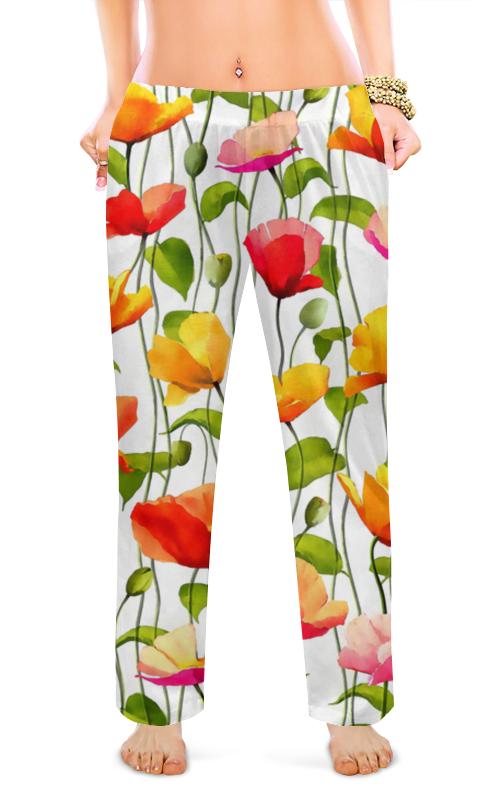 Женские пижамные штаны Printio Маки поло print bar маки