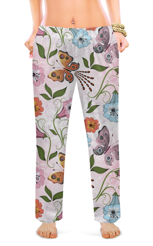 Женские пижамные штаны Printio Летние цветы