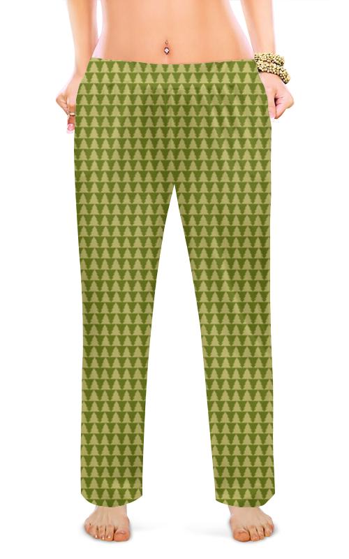 Женские пижамные штаны Printio Лесные елки