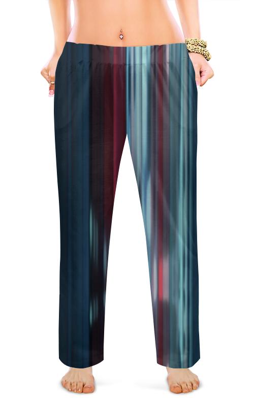 Женские пижамные штаны Printio Нежные полосочки