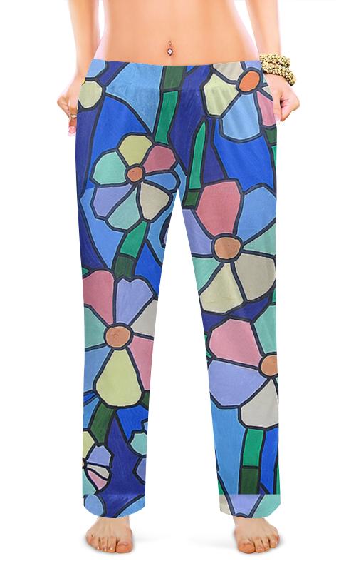 Женские пижамные штаны Printio Цветочный стиль