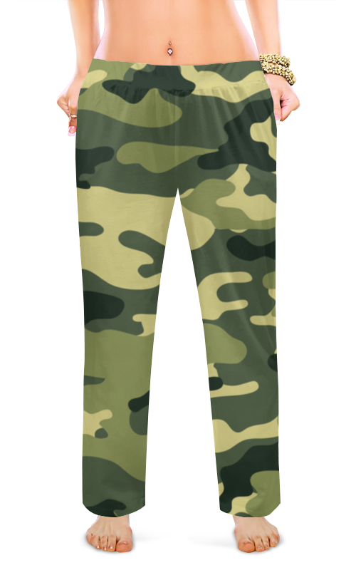 Женские пижамные штаны Printio Хаки.