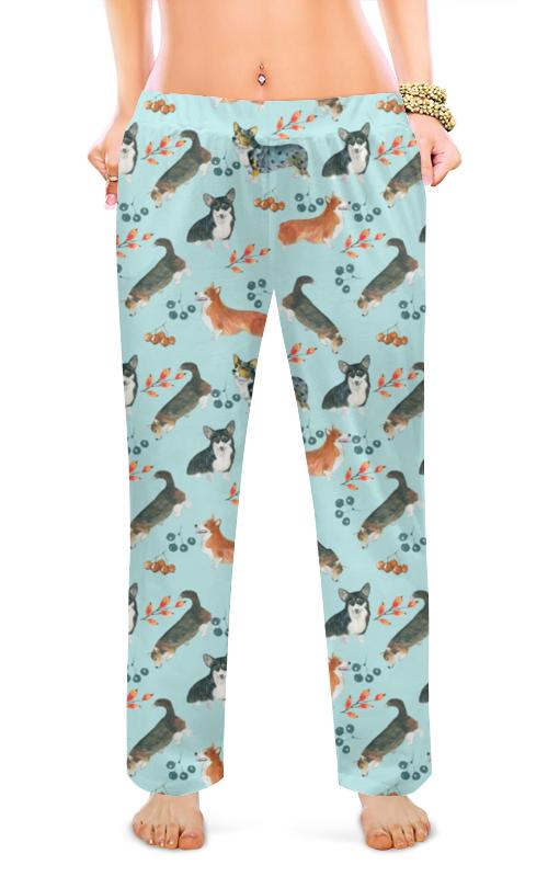 Женские пижамные штаны Printio Утро доброе если дома корги