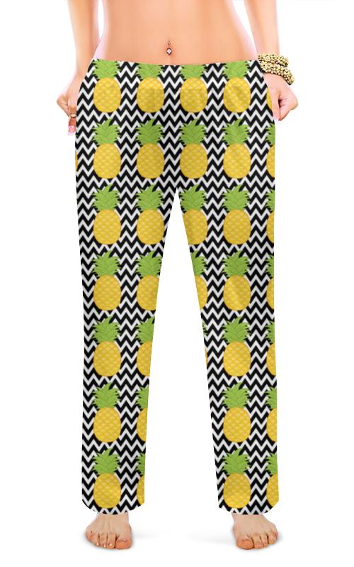 Женские пижамные штаны Printio Ананасы