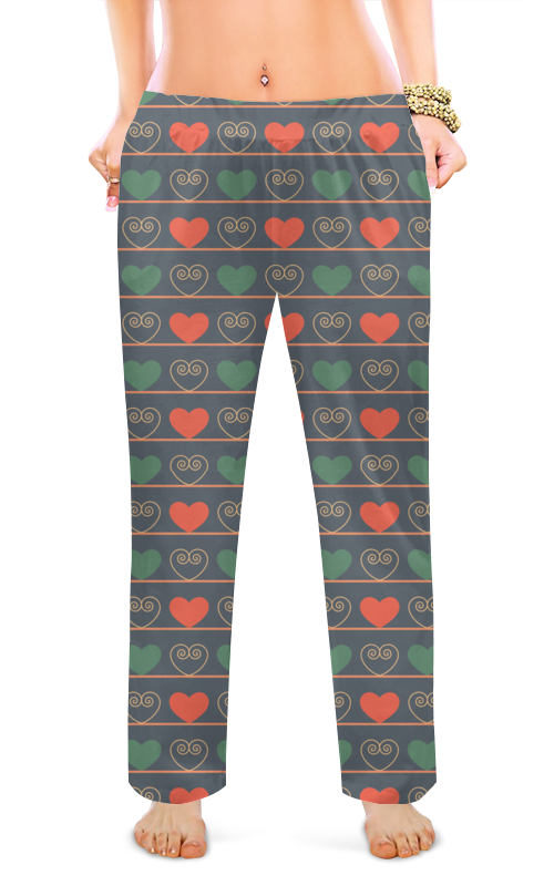 Женские пижамные штаны Printio Сердечки детские штаны gap 00066937 15 baby 669375 1