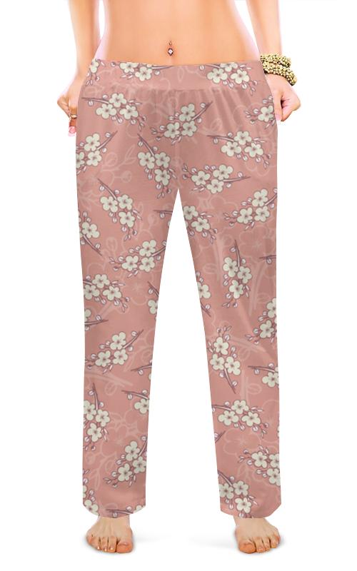 Женские пижамные штаны Printio Ветки цветущей вишни цена и фото