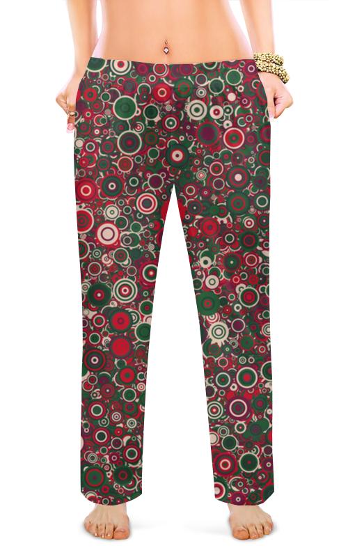 Женские пижамные штаны Printio Круги цена 2017