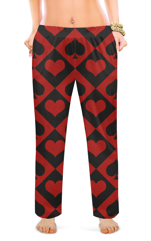 Женские пижамные штаны Printio Черви - пики черви от мух