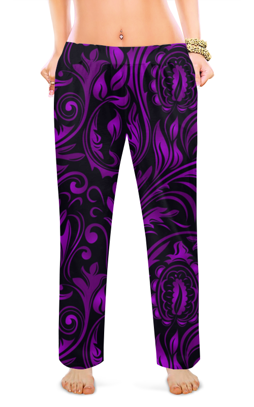 Женские пижамные штаны Printio Цветы пижамные комплекты
