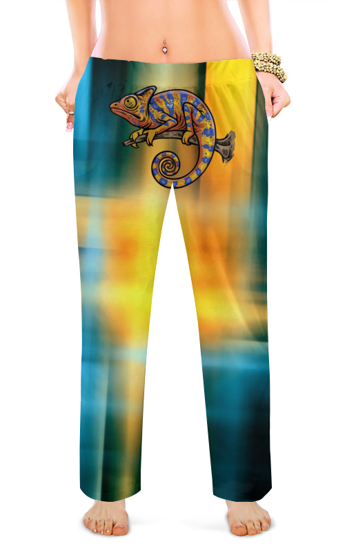 Женские пижамные штаны Printio Игуана