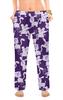 """Женские пижамные штаны """"Коты, мыши и собаки"""" - кот, мышь, полоска, фиолетовый, собака"""