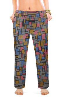 "Женские пижамные штаны ""Композиция (Питер Мондриан)"" - картина, живопись, мондриан"