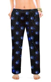 """Женские пижамные штаны """"ЗВЕЗДОПАД"""" - звезды, космос, абстракция, стиль эксклюзив креатив красота яркость, арт фэнтези"""