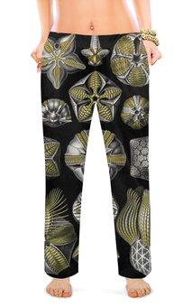 """Женские пижамные штаны """"Бластоидеи"""" - арт, дружба, картина, красота форм в природе, эрнст геккель"""