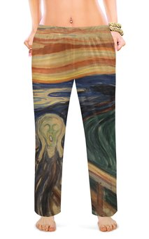 """Женские пижамные штаны """"Крик (картина Мунка)"""" - картина, мистика, живопись, мунк"""