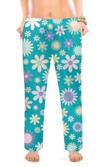 """Женские пижамные штаны """"цветы"""" - цветы, цветочки"""