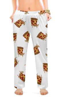 """Женские пижамные штаны """"Пицца"""" - арт, еда, пицца"""