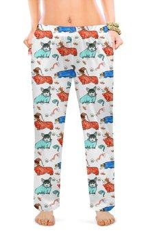 """Женские пижамные штаны """"Волшебный сон"""" - собака, рыжий, корги, пемброк, бохостиль"""
