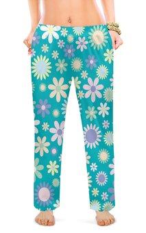 """Женские пижамные штаны """"ЦВЕТОЧКИ"""" - цветы, цветочки"""