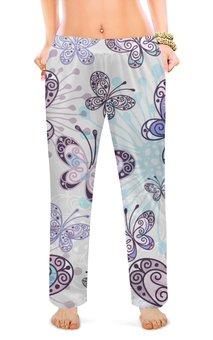 "Женские пижамные штаны ""бабочки"" - бабочки"