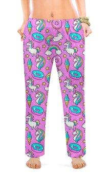 """Женские пижамные штаны """"ДЕТСТВО"""" - стиль, красота, сладости, игрушки, лошадки"""