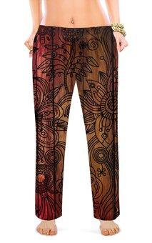 """Женские пижамные штаны """"узоры"""" - цветы, цвета"""