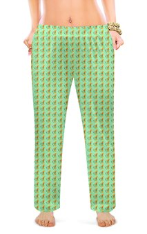 "Женские пижамные штаны ""Желтые тюльпаны"" - цветы, природа, тюльпаны"