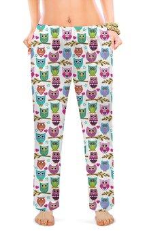 """Женские пижамные штаны """"МАСКИ"""" - стиль, красота, яркость, сова, маски"""