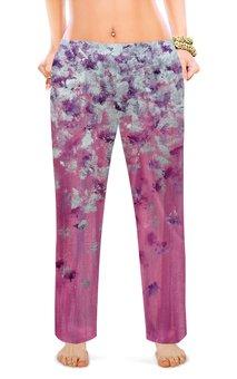 """Женские пижамные штаны """"Розовое настроение"""" - любовь, девушка, картина, розовый, яркий"""