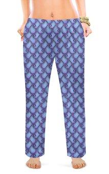 """Женские пижамные штаны """"Орнамент пайсли в пастельных тонах"""" - орнамент, растения, этнический, индийский, пейсли"""