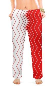 """Женские пижамные штаны """"Вибрация, с выбором цвета"""" - волна, абстракция, волны, линии, вибрация"""