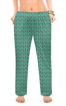 """Женские пижамные штаны """"Природа. Арт. Пчелки"""" - арт, цветы, природа, пчелы"""