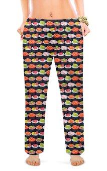 """Женские пижамные штаны """"Суши """" - дизайн, сердечки, сладкий сон"""