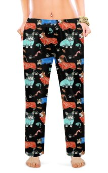 """Женские пижамные штаны """"Волшебный сон"""" - животные, собака, рыжий, корги, вельшкорги"""