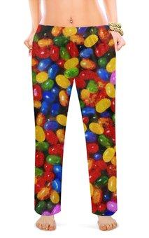 """Женские пижамные штаны """"Леденцы"""" - стиль, яркий, конфета, леденец, моне"""