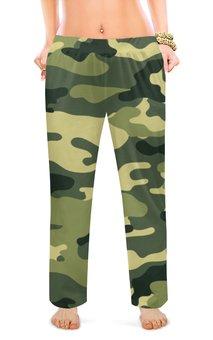 """Женские пижамные штаны """"хаки."""" - хаки, военные"""