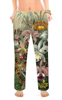 """Женские пижамные штаны """"Орхидеи"""" - цветы, 8 марта, маме, орхидея, сестра"""
