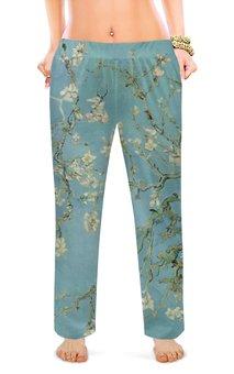 """Женские пижамные штаны """"Цветы миндаля (Ван Гог)"""" - картина, ван гог, живопись"""