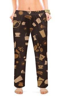 """Женские пижамные штаны """"Кофе."""" - ретро, сладости, кофе, шоколад"""