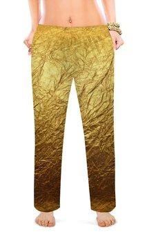 """Женские пижамные штаны """"Золотинка"""" - золото, фальга, мятая"""
