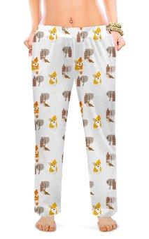 """Женские пижамные штаны """"Корги """" - животные, собака, рыжий, корги, вельшкорги"""
